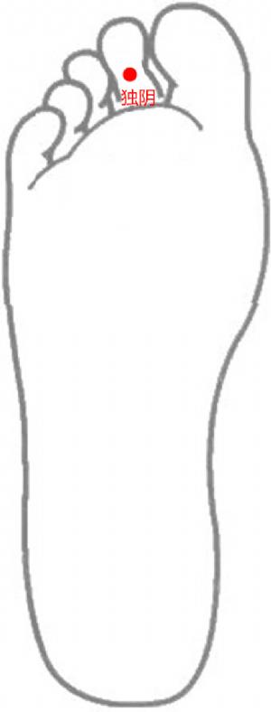 經外奇穴——獨陰的位置